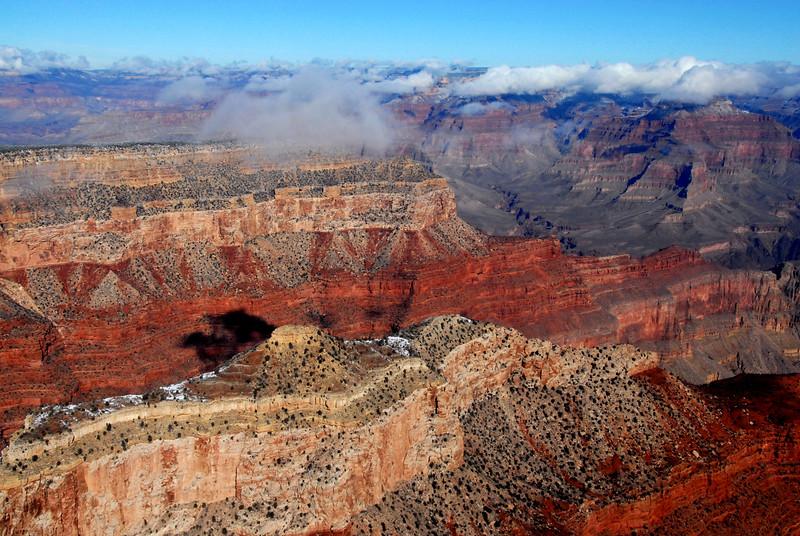Aerial South Rim Grand Canyon AZ