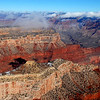 Aerial South Rim Grand Canyon AZ