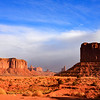 Left Mitten and Sandstone Buttes, Monument Valley