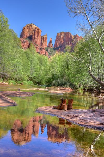 Upstream without Boots, Oak Creek Sedona AZ