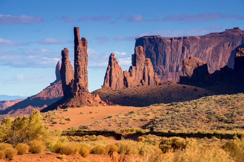 Totem Pole and Yei Bichei, Navajo Tribal Park Monument Valley AZ