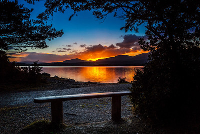 Sunrise - Bench on Ross Island