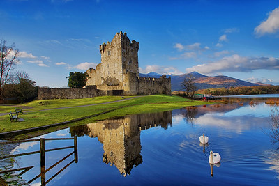 Ross Castle With Swans