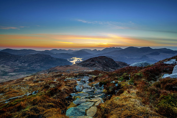 Summit of Torc Mountain at Sunset
