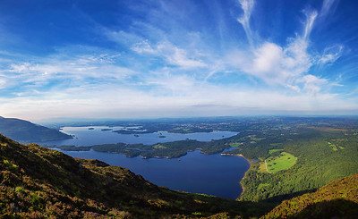 View of Killarney & Lake's from summit of Torc Mountain