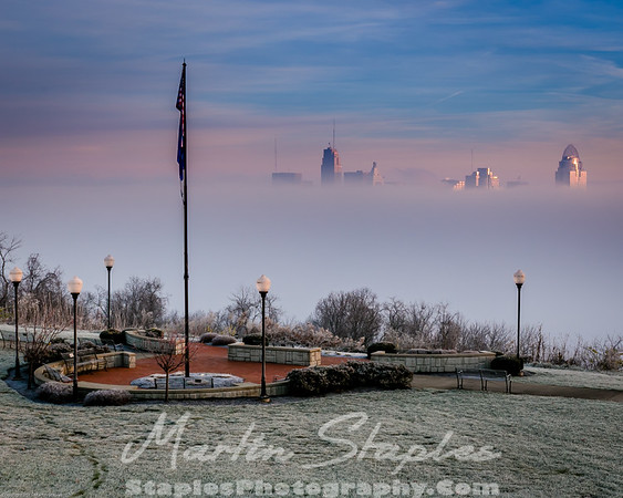 Cincinnati in Fog
