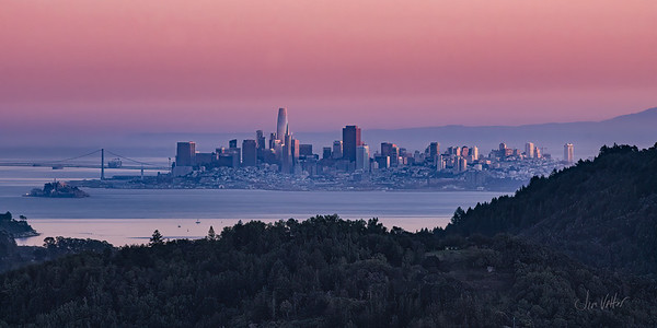 SF Cityscape as seen from Marin