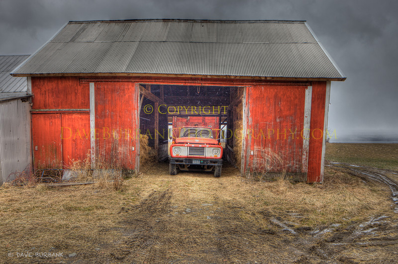Hay Barn with Truck