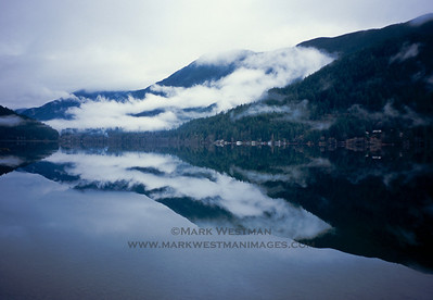 Reflections in Lake Crescent, Olympic National Park, Washington.