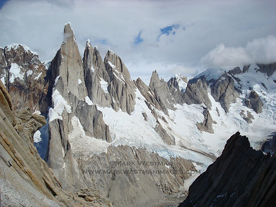 Cerro Torre massif from the east.