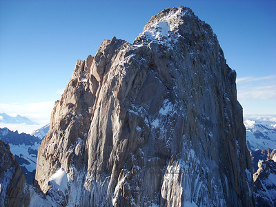 Fitzroy's south face as viewed from the summit of Aguja Poincenot.