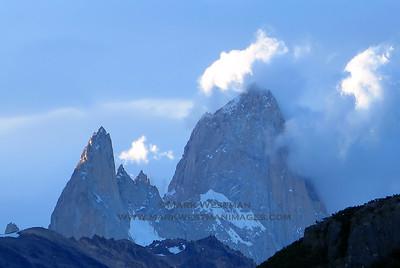 Aguja Poincenot and Cerro Chalten (aka Fitzroy).