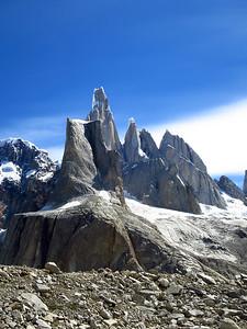 El Mocho, Cerro Torre, Torre Egger and Cerro Standhardt.