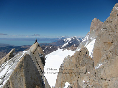 Jed Brown on the summit of Aguja Guillaumet.