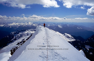 The summit of Eldorado Peak, North Cascades National Park, Washington.
