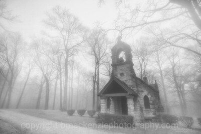 Elkhart Chapel in Fog
