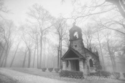 Elkhart Chapel in Fog