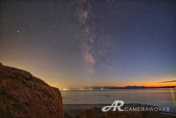 Milky Way Sunset Over Salt Lake