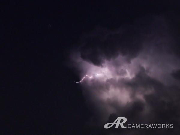 Saturn with Lightning