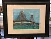 Watercolor Painting Mackinac Bridge - Mackinaw City