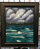 Battling the Storm Painting - Petoskey - Bay View