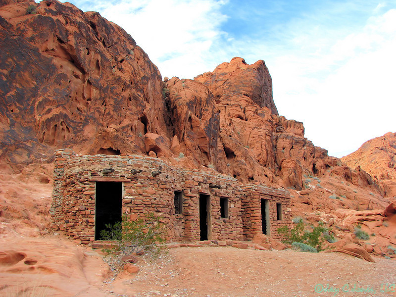 Barracks building, Valley of Fire State Park, Nevada.