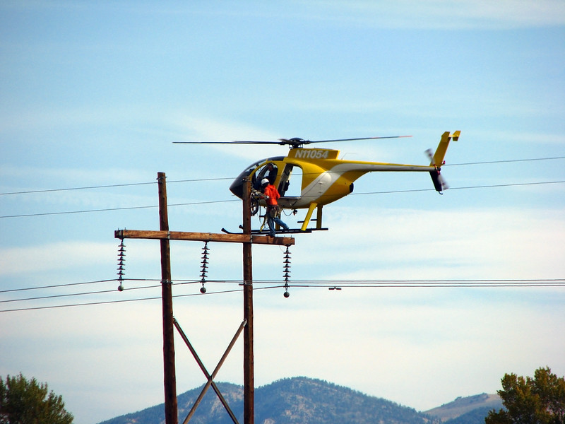 Working the Power Lines, Salida, Colorado.
