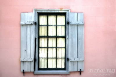 S155-1542c St Augustine Pink Wall Gray Shutters