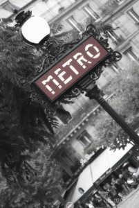Metro Sign Paris, France #S162-0564c