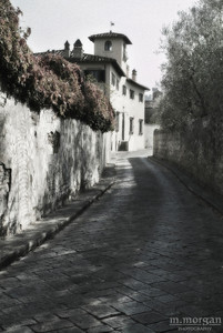 Cobblestone Road Florence, Italy #S163-1168c