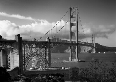 Golden Gate Bridge San Francisco, California #S141-10-9BW