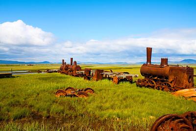 Abandoned Train near Nome, Alaska
