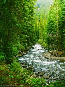 North Dakota secluded river bend