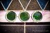 Three Green Circles