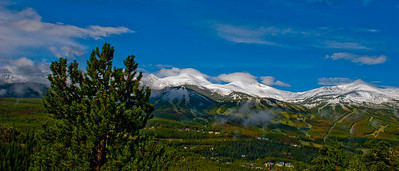 Morning after August snow  storm, Breckenridge, Colorado..