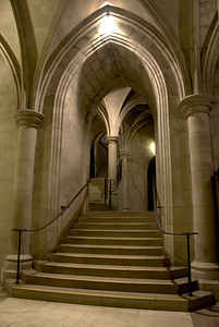 Stairways and passages.  National Cathedral.