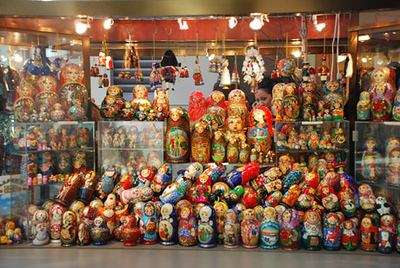 Russian Dolls, kiosk, Prudential Center