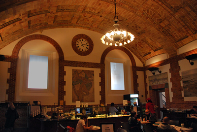 Map Room Café, Boston Public Library.