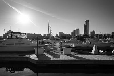 Black & white harbor