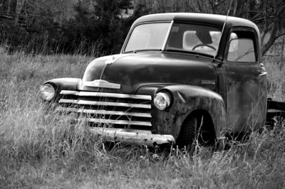 Classic old Chevy Black & White