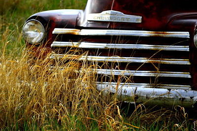 Classic old Chevy Grill