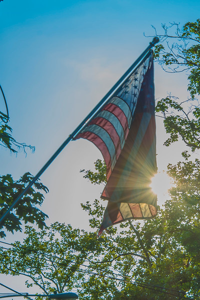 American Flag with Sun Flare #2
