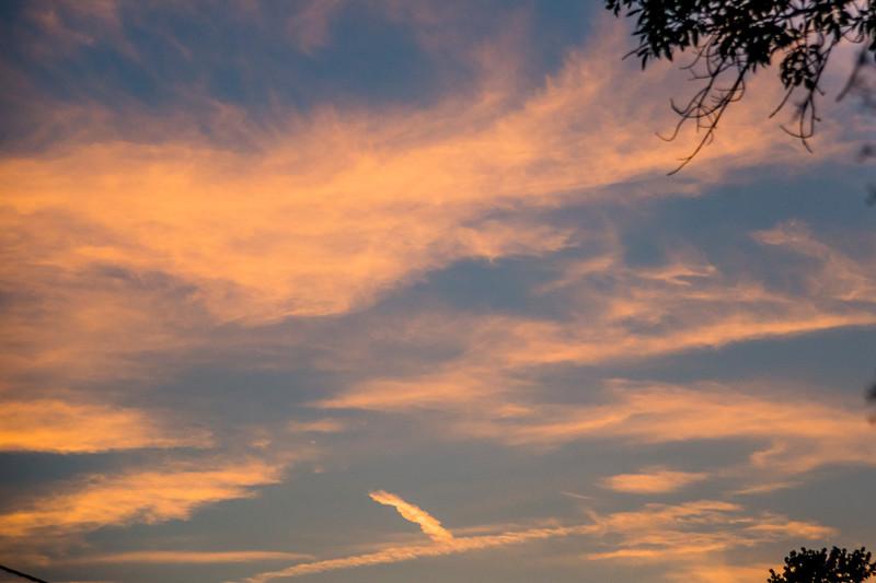 Sunset Clouds on Blue Sky