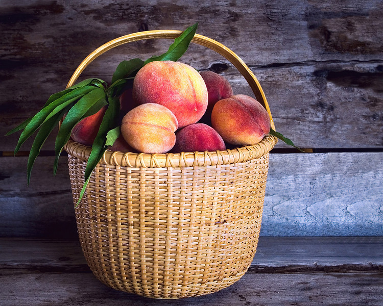 Summer's Bounty - Peaches at the farm stand. See more in Fine Art - Still Life gallery