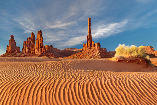 Monument Valley shadows at sunrise