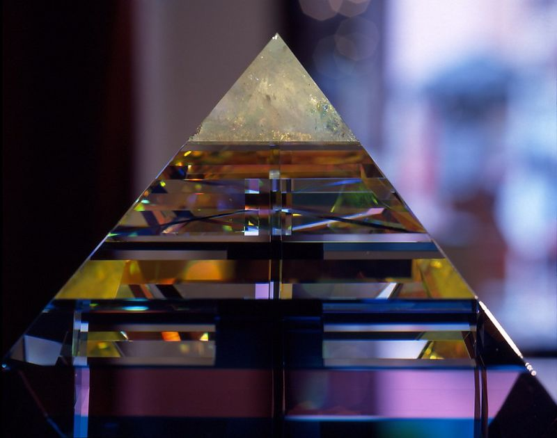 F005  Glass Pyramid by Paul Manners