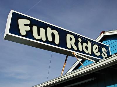 Amusement park ride sign Pacific Northwest Washington
