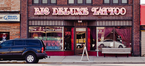 Big Deluxe Tatoo, Salt Lake City, Utah.