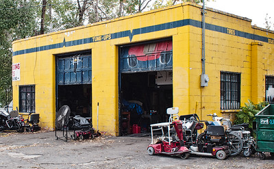 Car repair shop in Salt Lake City, Utah, 2010.