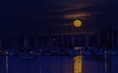 Full Moon over Concord Yacht Club
